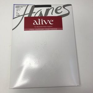 Hanes Alive Sheer to Waist Pantyhose Sheer Toe